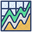 Mountain Chart Financial Chart Financial Graph Icon