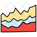 Mountain Chart Analytics Statistics Icon