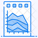 Area Graph Area Plot Area Chart Icon