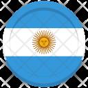 Argentina Flag Circle Icon