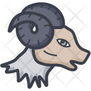 Aries Goat Horns Icon