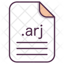 Arj File Document Icon