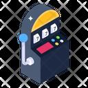 Arm Bandit Slot Machine Casino Game Icon