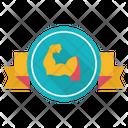 Arm Wrestling Badge Icon