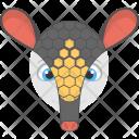 Black Armadillo Face Icon