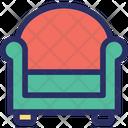 Elbow Armchair Vector Icon Icon