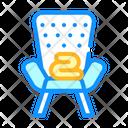 Armchair Plaid Color Icon