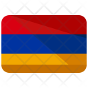 Armenia Flag Country Icon
