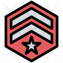 Army Badge Sergeant Star Icon