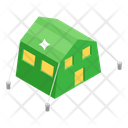 Army Camp Basecamp Military Base Icon
