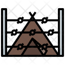 Base Army Camping Icon