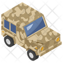 Military Car Armored Vehicle Transportation Icon