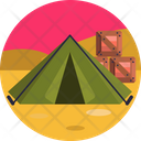 Tent Camping Army Icon