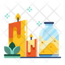 Aroma Therapy Massage Candle Icon