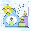 Salon Service Aroma Candle Aromatherapy Icon