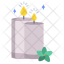 Aromatherapy Candle Spa Icon