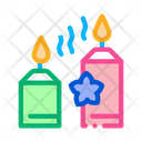Aromatic Burning Candles Icon