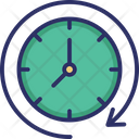 Around The Clock Clock Clockwise Icon