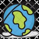 Around The World Worldwide Globe Icon