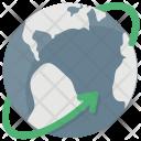Globe Arrow Digital Icon