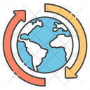 Around The Globe Around The World Global Service Icon