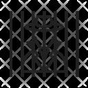 Criminal Behind Bars Icon