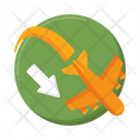 Arrival Landing Travel Icon