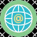 Arroba Sign Globe Icon