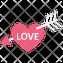 Arrow Heart Love Archery Icon