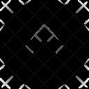 Arrow Round Up Icon