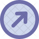 Arrow Right Up Round Icon