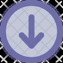 Arrow Down Round Icon