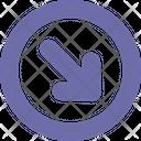 Arrow Down Right Round Icon