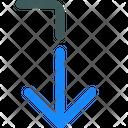 Arrow Level Down Icon