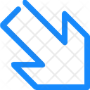 Arrow Down Lower Icon