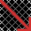 Arrow Long Lower Icon