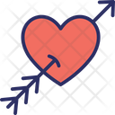 Arrow Broken Heart Heart Icon