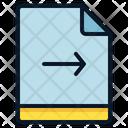 File Arrow Right Icon