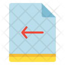 File Arrow Left Icon