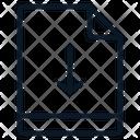 File Arrow Down Icon