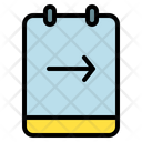 Note Arrow Right Icon