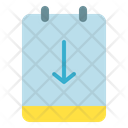 Down Sign Notes Icon