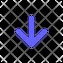 Arrow Direction Down Icon
