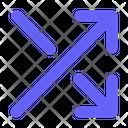 Arrow Shuffle Arrow Random Icon