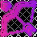 Valentine Day Arrow Bow Icon