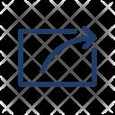 Arrow Export File Icon