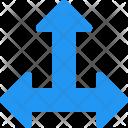 Three Way Arrow Icon
