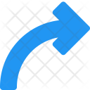 Arrow Curved Icon
