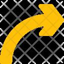 Curved Chevron Arrow Icon
