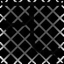Arrow Curving Location Icon